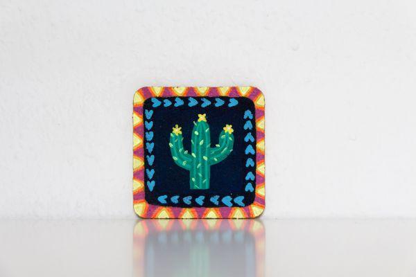 Untesetzer aus Kork im Mexiko-Stil mit Kaktus-Motiv von FitzeFatze Design